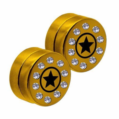 1 Paar Magnetische Fakeplugs Fake Plug Edelstahl Ohrclips Piercing Stern Strass