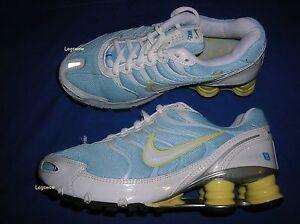 00e409df4138 Nike Shox Turbo + VI 6 Sneakers Blue White Yellow Womens 7 Running ...