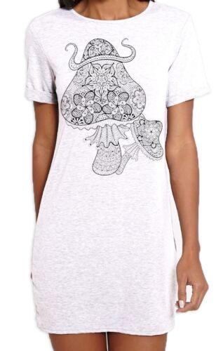 Mushroom Psychedelic Festival Magic Mushrooms Women/'s T-Shirt Dress