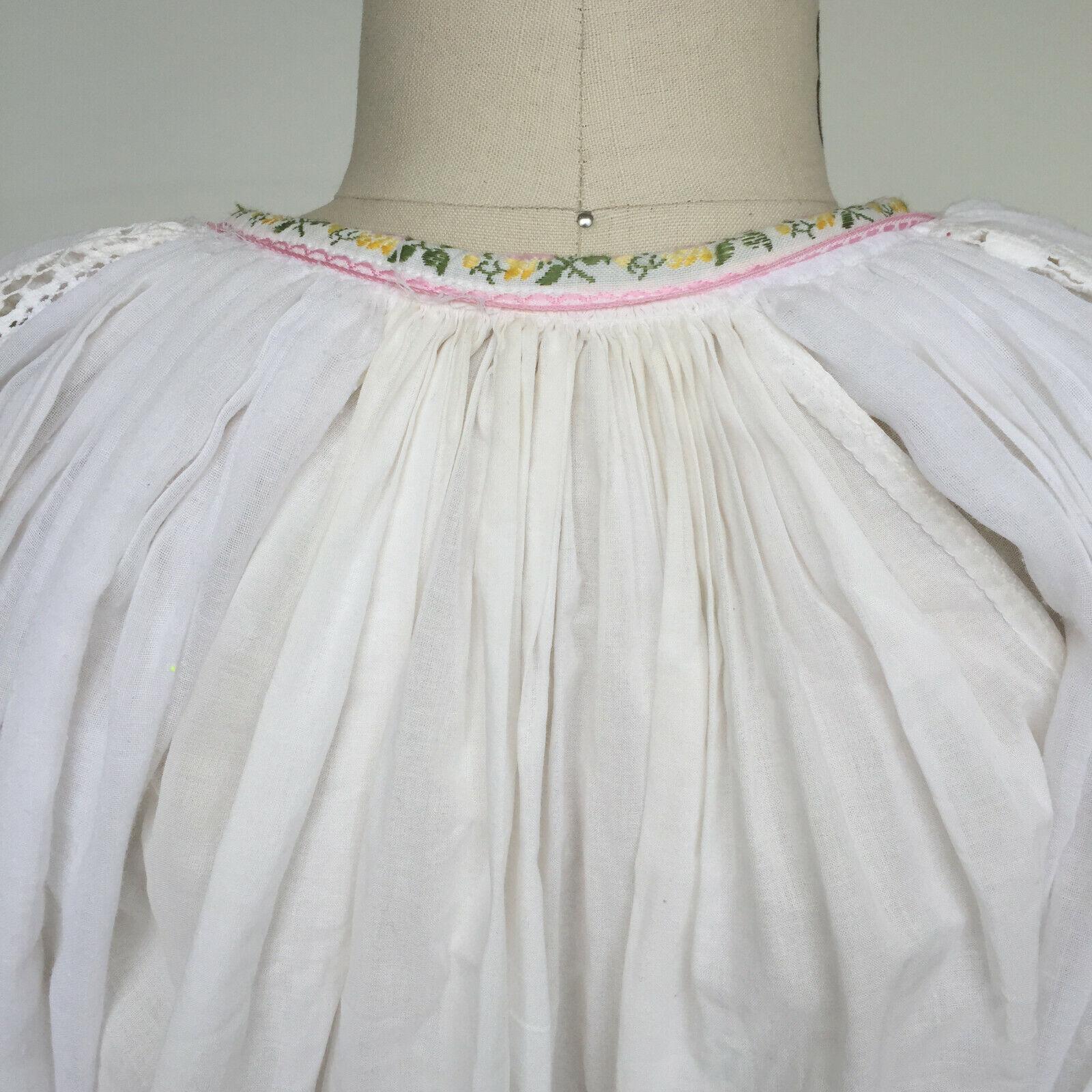 VTG 1970s Hungarian Handmade Textured Boho-Chic P… - image 2