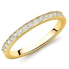 1.6 mm - 0.35Ct Round Diamond Pave Set Full Eternity Ring, 18k Yellow Gold