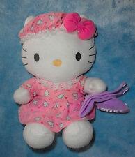 Nakajima Sanrio Plush Hello Kitty Pink Bunny Pajamas w/ Blanket Stuffed Animal