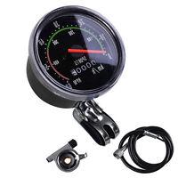 Vintage Black Bicycle Bike Speedometer Analog Mechanical Odometer With Hardware