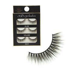 Pairs Women Black Handmade Long 3D False Eyelashes Thick Eye Lash Extension