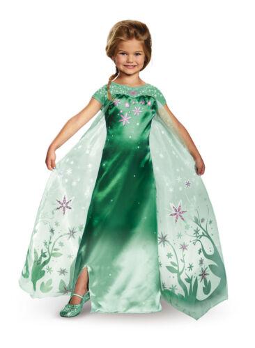 Girls Child Frozen Fever Deluxe ELSA Disney Movie Costume Licensed
