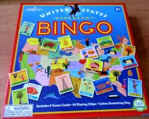 eeBoo United States Map US Geography Bingo Ages 5 Up Educational ...