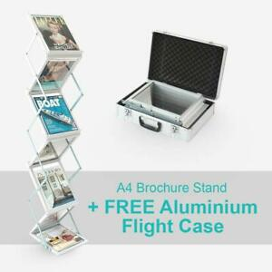 Clearance! A4 Brochure/Magazine Folding Display Stand Rack for Exhibitions etc