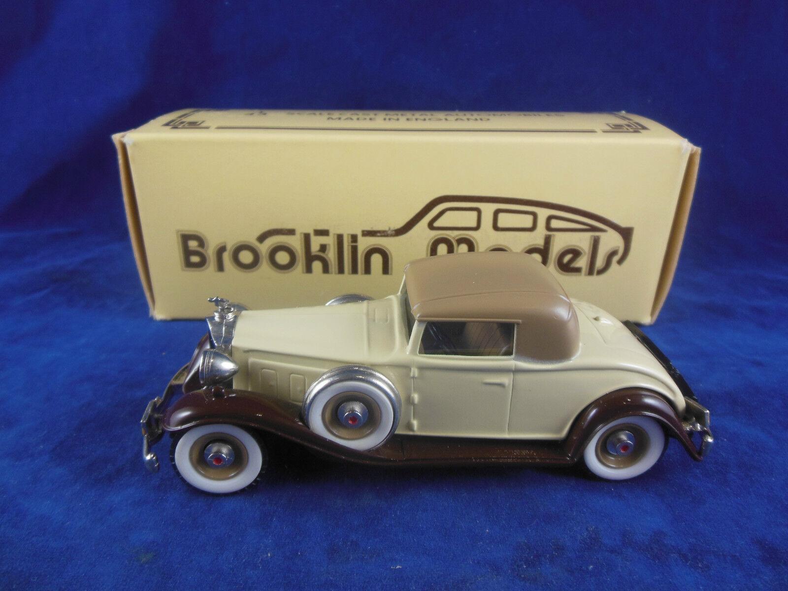 Brooklin modelos BRK6 1932 Packard Luz 8 Coupe en dos tonos de marrón escala 1 43