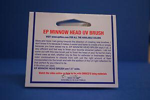 EP Minnow Head UV Brush 6 Stränge a´25 cm UV WHITE