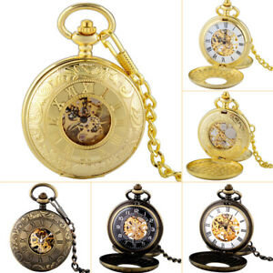 Luxury-Steampunk-Double-Hunter-Vintage-Mechanical-Pocket-Watch-Windup-Fob-Chain