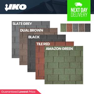 Roofing Felt Shingles Asphalt Shed Roof Felt Tiles Iko Square Premium Felt Ebay