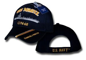 e6906baaf05 US NAVY USS NIMITZ CVN-68 Aircraft Carrier Embroidered Ball Cap ...