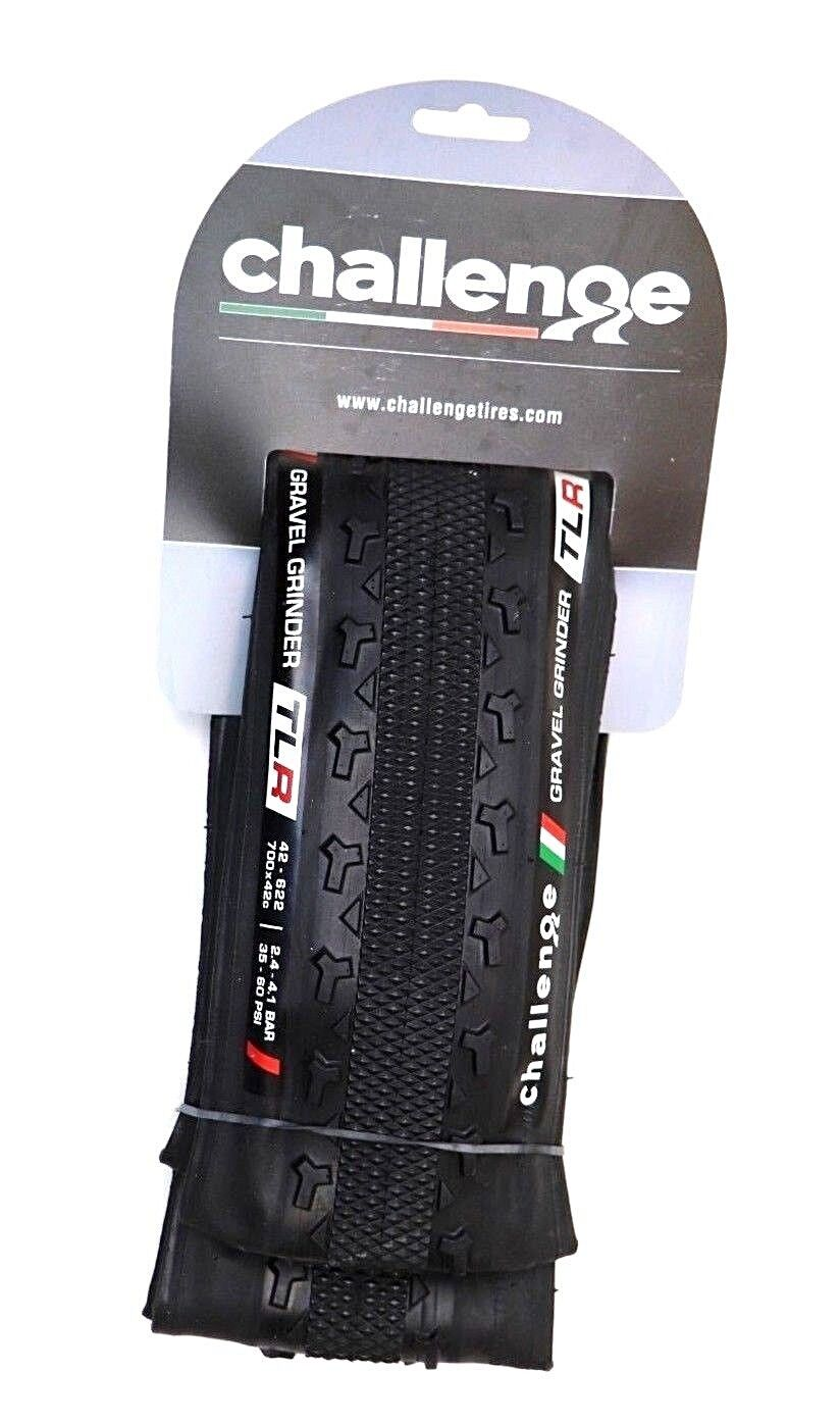 Challenge Gravel Grinder TLR Tubeless Ready Clincher Tire 700x38  or 700x42  fast shipping
