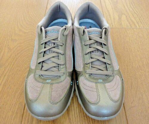 Uk Graue Schnürer Memory Größe Skechers Foam Niedriger 38 Damen Silberne Top Eu 5 Sneaker q0vwzt