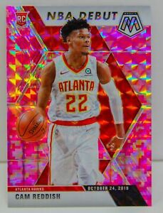 Cam Reddish RC 2019-20 CAMO PINK MOSAIC PRIZM NBA Debut Rookie Card #271 Hawks