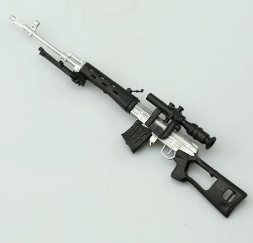 SVD Sniper Rifle Plastic 1//6 DIY Weapon Model Military Solider Gun Toy Display