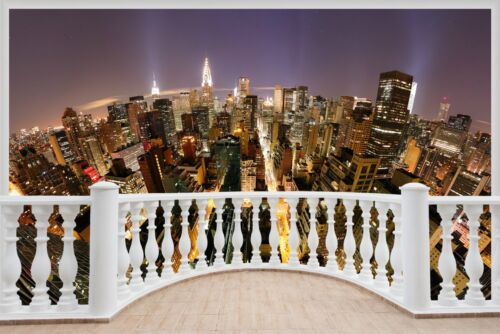Énorme 3D balcon NEW YORK CITY Wall Stickers Mural Papier Peint 328