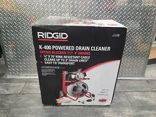 New Listingridgid 115volt K 400 Drain Cleaning Drum Machine Integral Wound Cable Amp Tool Set