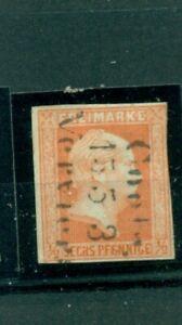 Preussen-Friedrich-Wilhelm-IV-Nr-13-gestempelt-Bahnpost-Coeln-Verviers