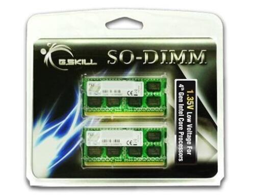 16GB G.Skill DDR3 1600MHz SODIMM laptop memory dual channel kit 2x8GB CL11 1.35V
