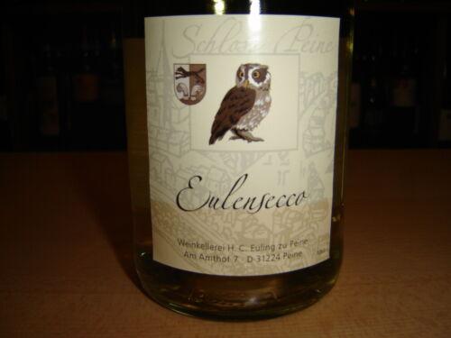 1 x Weißer Eulensecco Eulen Secco Perlwein Weiß Trocken Cuvée Deutschland Eule