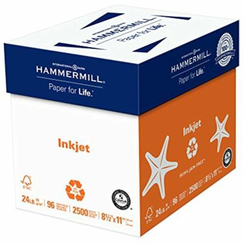 24lb 96 Bright Inkjet Multipurpose 8.5 X 11 Letter Size Hammermill Paper //