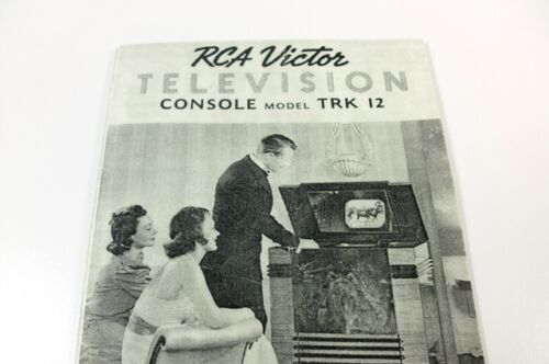 RCA Victor TRK 12 Television Instruction Manual Reprint