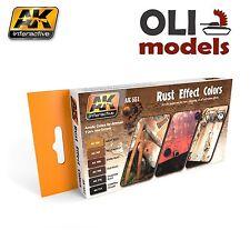 RUST EFFECT COLORS Acrylic Paint Set 6x17ml - AK Interactive 551
