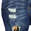 thumbnail 5 - KanCan Mason Mid Rise Leopard Patch Skinny Distressed Jeans Rolled Hem 7 27