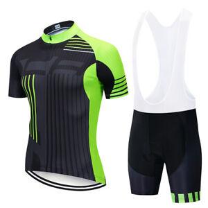 Details about Men Cycling Jersey Bicycle Bike Bib Short Motocross MTB Shirt Tour de France Top