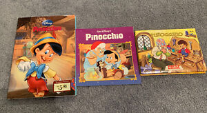 Walt-Disney-s-Pinocchio-Books-Lot-Lot-of-3