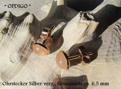 """silverearrings with gems 6,5 mm /""""opdigo/"""" Plata Plata con piedras preciosas"""