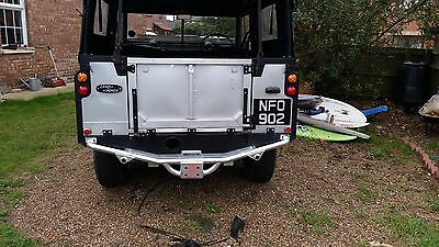 DOUBLE ACTION  LAND ROVER TAILGATE HINGES, GALVANIZED or BLACK POWDER COATED