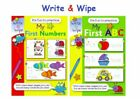 Martello My First Numbers and ABC Write & Wipe Books (P2694)