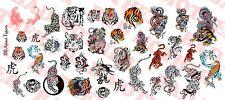 1/6 Scale Custom Tattoos: Asian Tigers variety pack - Waterslide Decals