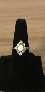 Sterling-Silver-925-Cubic-Zirconia-Mother-of-Pearl-Band-Fashion-Ring