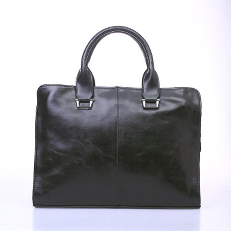 Men's Work Bag Laptop Briefcase PU Leather Shoulder Messenger Bags Business