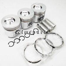 Pin /& Clip /& Ring 82mm for Yanmar 3TNV82 3TNV82A Engine 3 Sets STD Piston Set