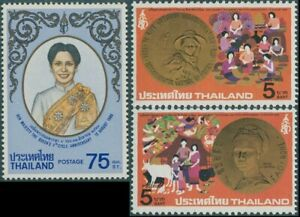 Thailand-1980-SG1028-1030-Queen-Sirikit-birthday-set-MNH