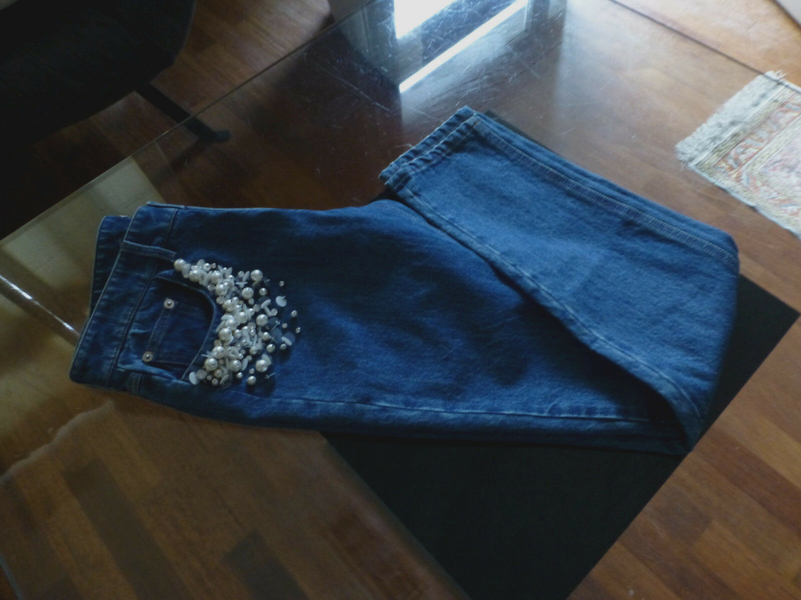 MIU MIU Jeans Pantaloni Con Perle