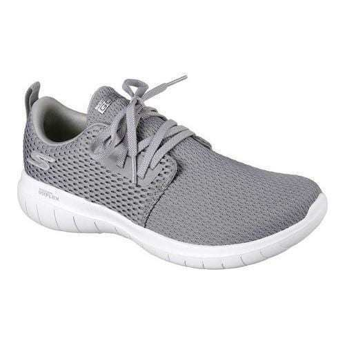 SKECHERS WOMENS GO FLEX MAX STRENGTH RUNNING PERFORMANCE SHOES  GRY
