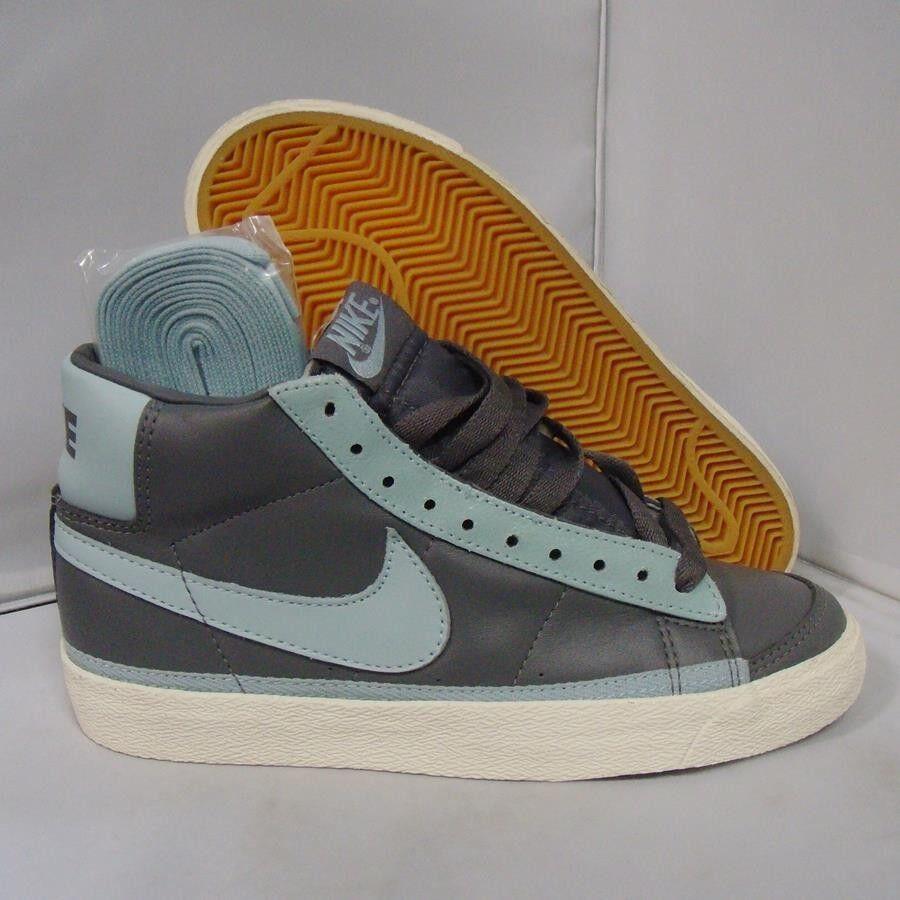 Womens Nike Blazer Mid sz 7 yellowing vintage ivory canvas dunk sb high