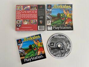 Sehr-seltenes-Playstation-1-ps1-Herkules-Spiel-Guter-Zustand-komplett-mit-Handbuch