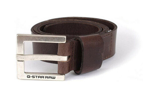 G-Star Duko Buffalo Leather Belt Cuba Leather Marron Foncé RRP £ 39.99