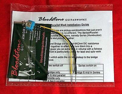 9-way Strat Tone Upgrade Kit Adds Series//Parallel Humbucker /& Neck Add Gilmour