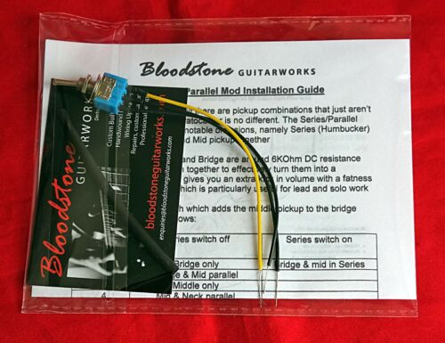 BLOODSTONE Strat Series//Parallel Guitar Tone Upgrade Kit Adds Humbucker mode