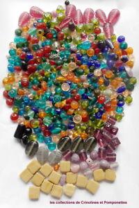 HonnêTe Perles En Pate De Verre En Vrac Tailles Variees Multicolores Lot Important * Haute SéCurité