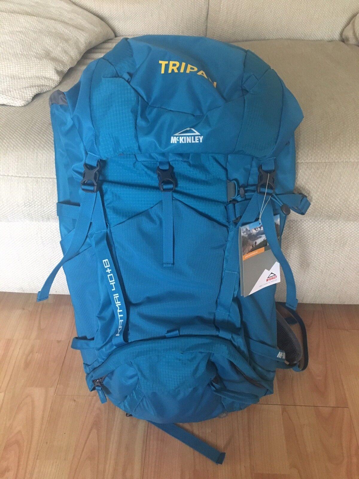 MCKINLEY KATMAI Escursionismo Trekking 40+8 RC Zaino In Blu colore BENZINA