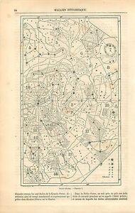 Cartes-Celestes-Etoiles-Grande-Ourse-Mont-Saint-Clair-a-Sete-GRAVURE-PRINT-1863
