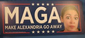 WHOLESALE LOT OF 7 TRUMP 2020 MAGA MAKE ALEXANDRIA GO AWAY AOC MAGNET sticker